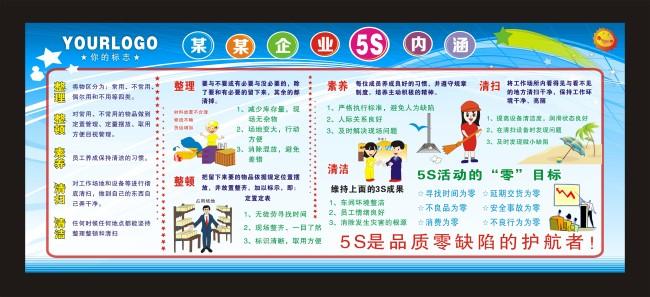 企业5S宣传栏模板模板下载 11209231 展板设计 党政 学校 企业