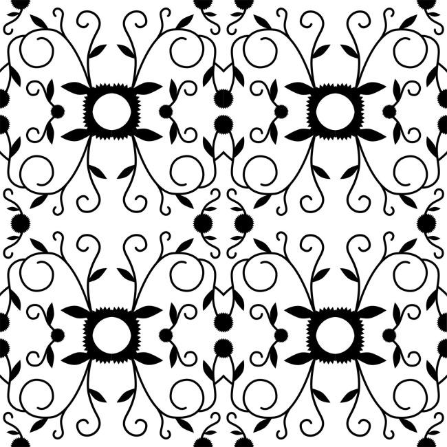 小草花重复图案素材设计