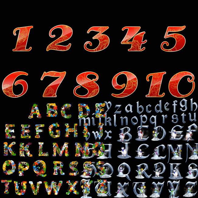 说字字母艺术字体