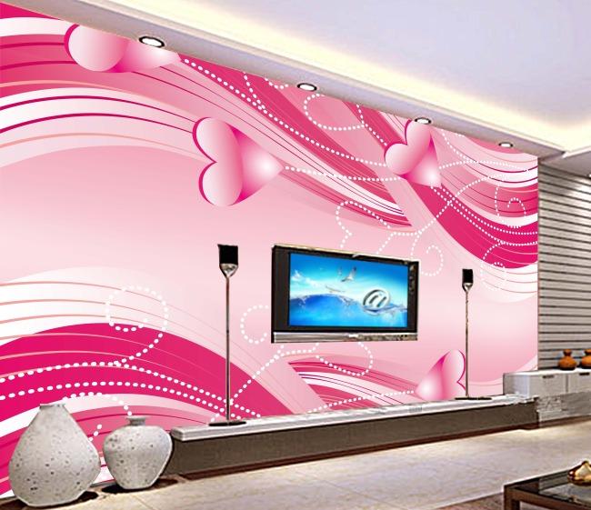 卡通 背景 背景墙 温馨/客厅浪漫卡通古典爱情温馨喜庆电视背景墙