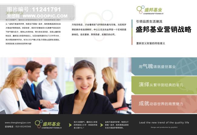 教育商贸金融公司三折页设计模板