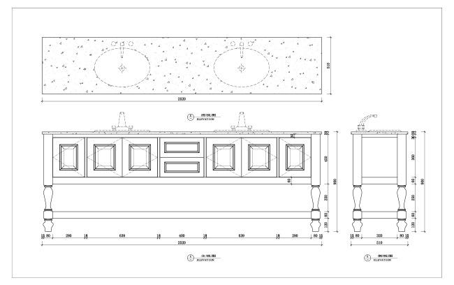 cad台盆柜设计室内家具设计