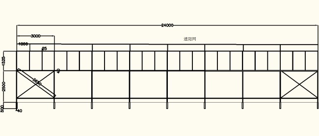cad图库 室内设计cad图库 cad图纸 > 大棚设计侧面图