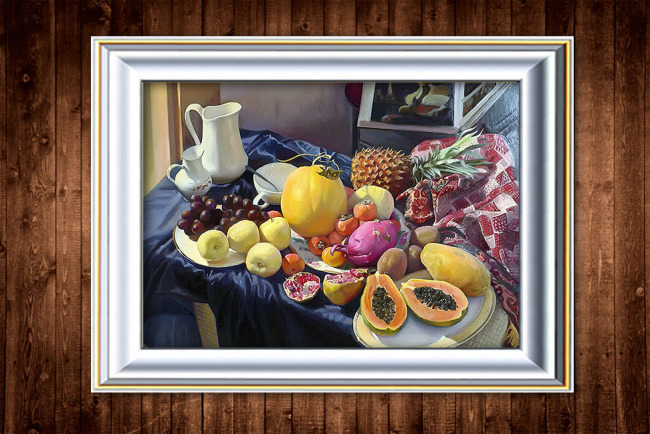 静物水果油画装饰画