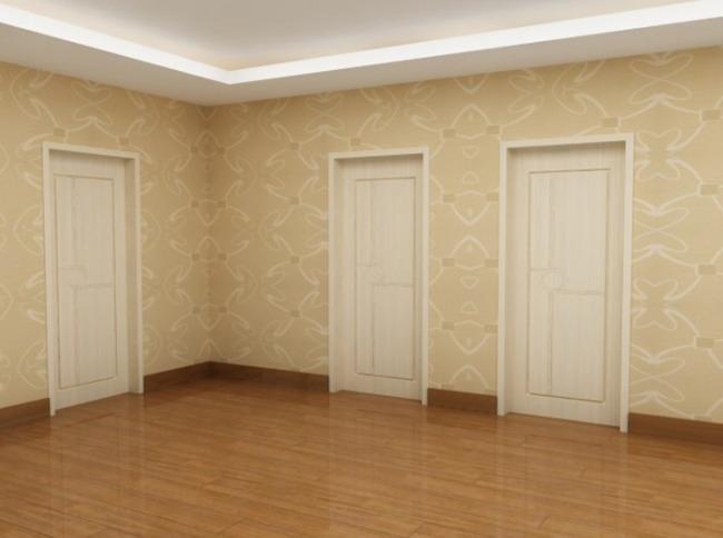 室内设计-壁纸地板搭配效果图