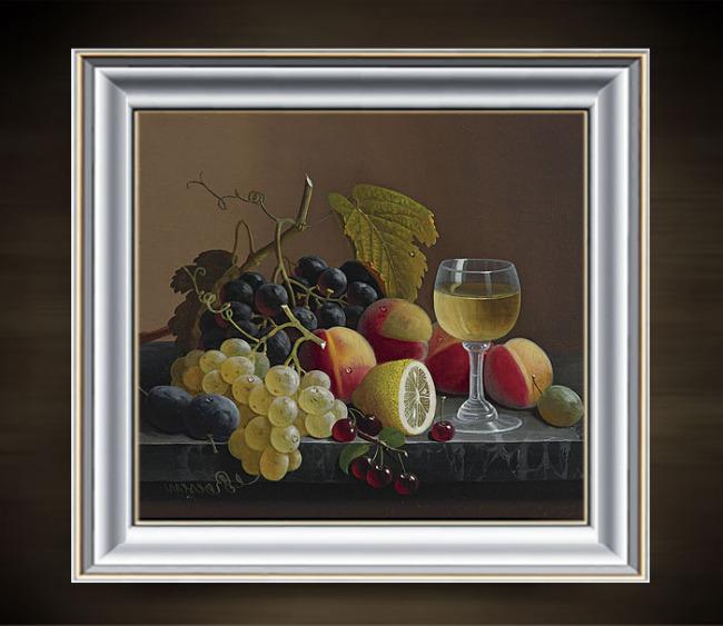 美丽的水果静物写实油画模板下载 11263219 油画 背景墙