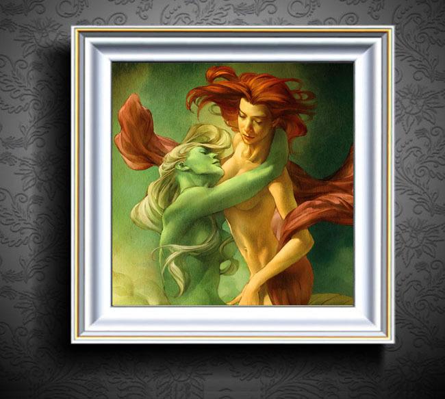 人物油画装饰画抽象画