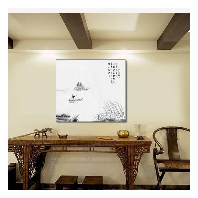 中国风山水字画室内装饰画