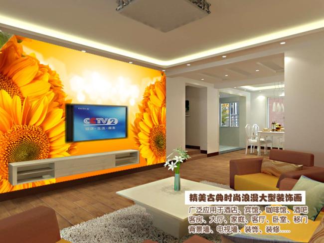 电视背景墙 手绘电视背景墙