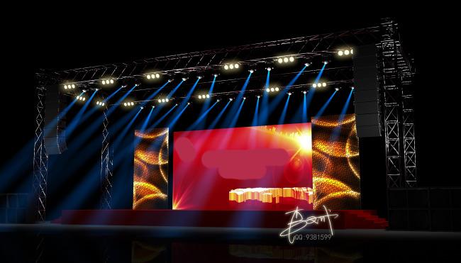 晚会舞台舞美设计图展示