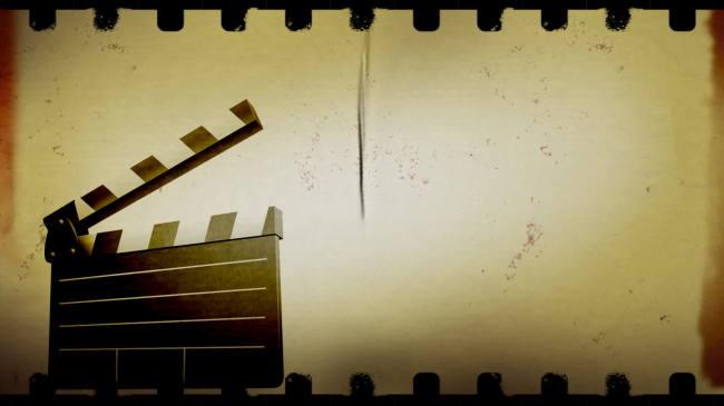怀旧电影片头 超高清动态视频素材
