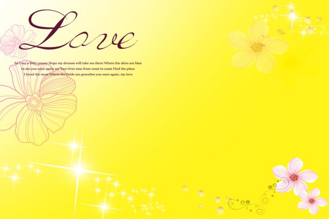 浅黄色花朵背景模板设计