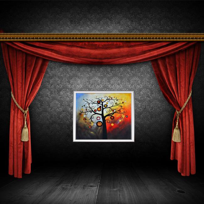 无框画 幸福树 多姿多彩 模板/多姿多彩幸福树无框画