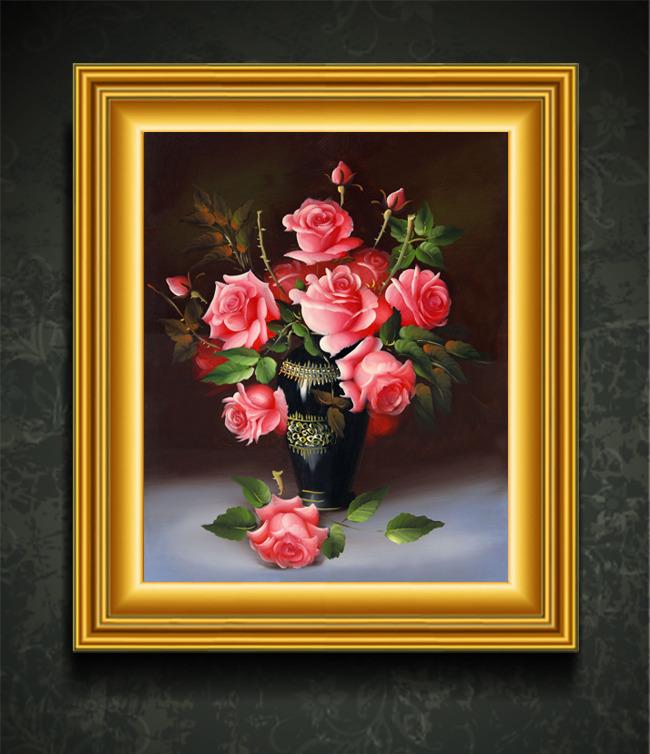 写实水果花卉装饰画图片下载欧式风情浪漫时尚装饰画
