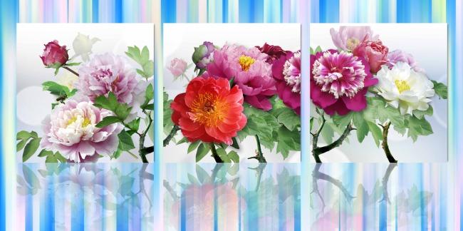 玫瑰花室内装饰画图片
