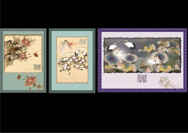 中国工笔画装饰画