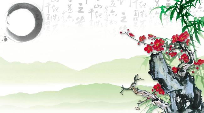 中国风水墨画电视背景墙效果图模板下载 11290788 背景墙 背景墙