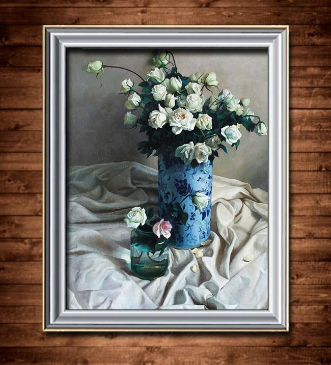 花卉油画装饰画模板下载(图片编号:11292051)