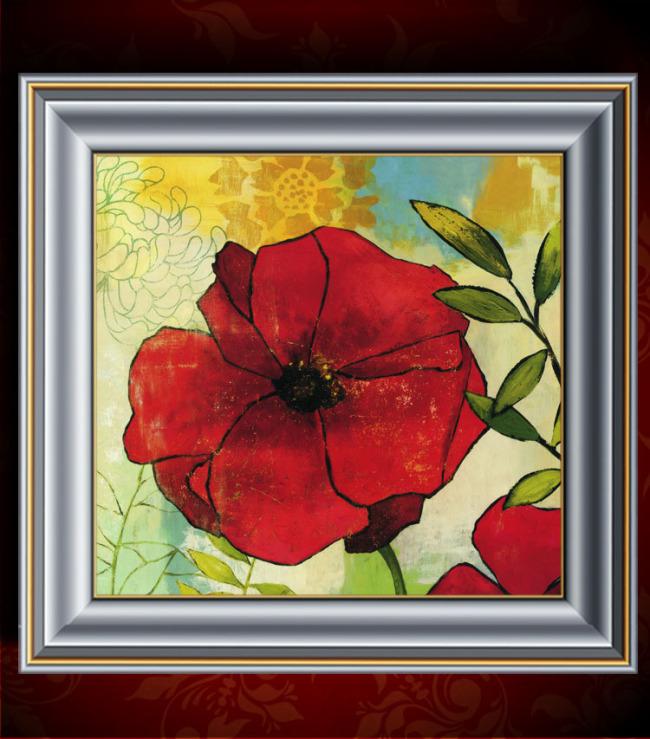花卉油画装饰画模板下载(图片编号:11292066)