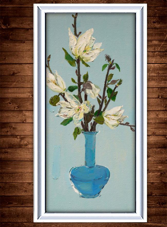 花卉油画装饰画模板下载(图片编号:11295094)