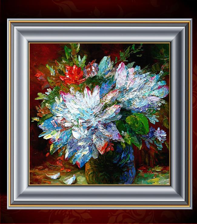 花卉油画装饰画模板下载(图片编号:11296742)