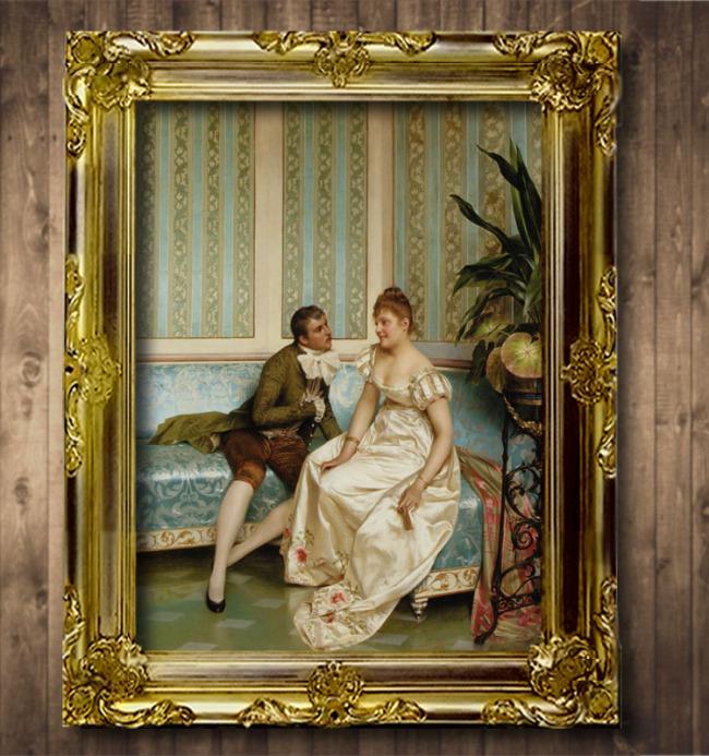 人物 风格/[版权图片]亲诉衷肠古典主义风格人物油画