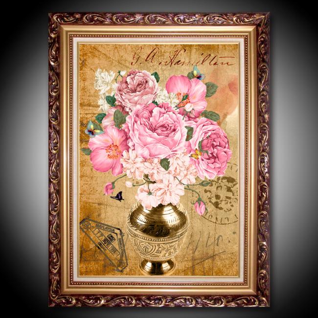 欧美复古花卉装饰画