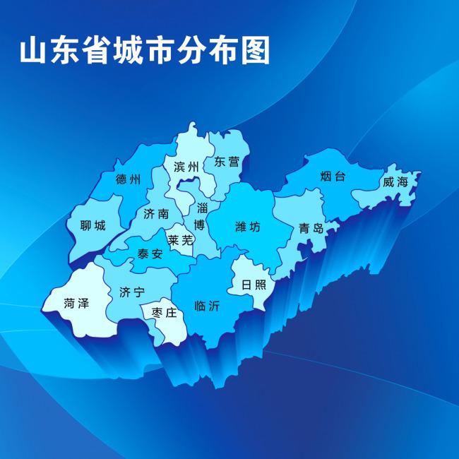 山东省地图模板下载(图片编号:11301689)