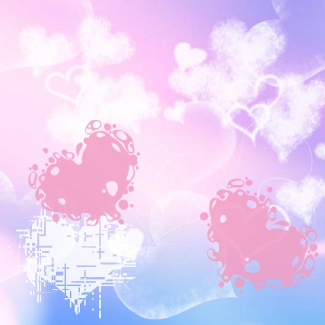 爱心笔刷 爱心 心形笔刷 爱心云 水滴爱心 常用笔刷 情人节 多种爱心图片