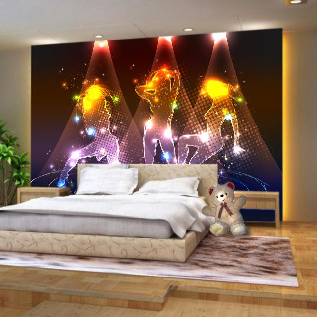 炫舞美女客厅电视背景墙模板下载图片编号:1