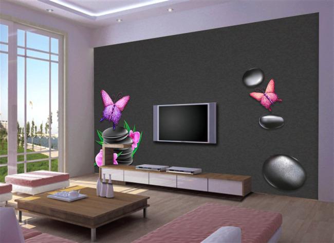 装修电视背景墙画电视柜装修背景墙图片10