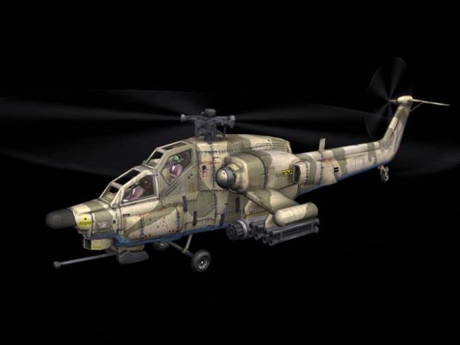 3d直升飞机模型带贴图素材下载