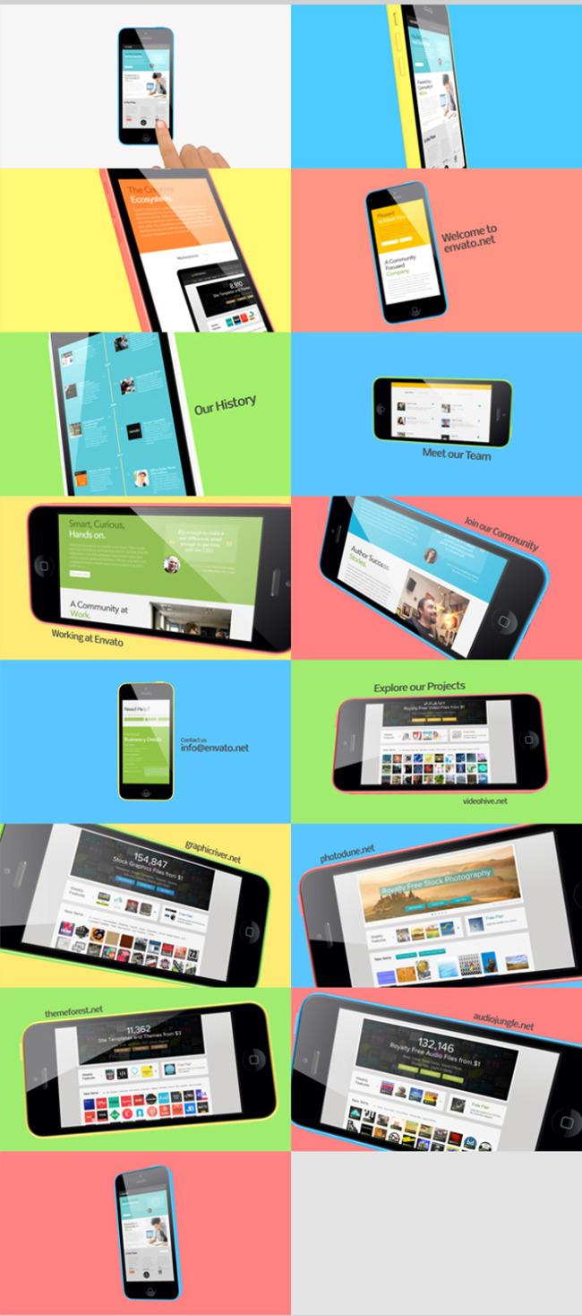 iphone5c视频广告宣传片模板