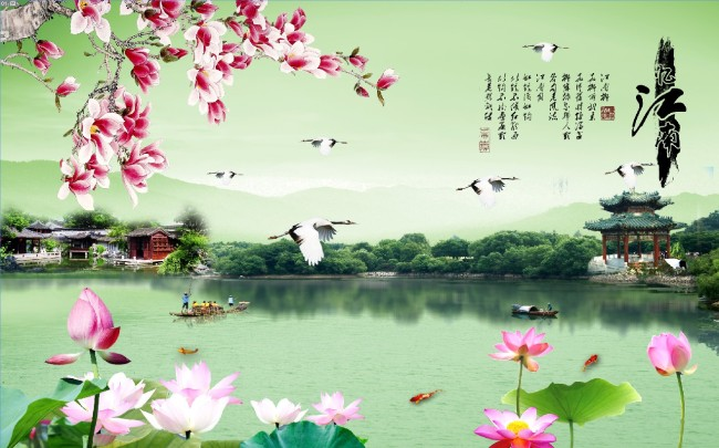 中式电视背景墙