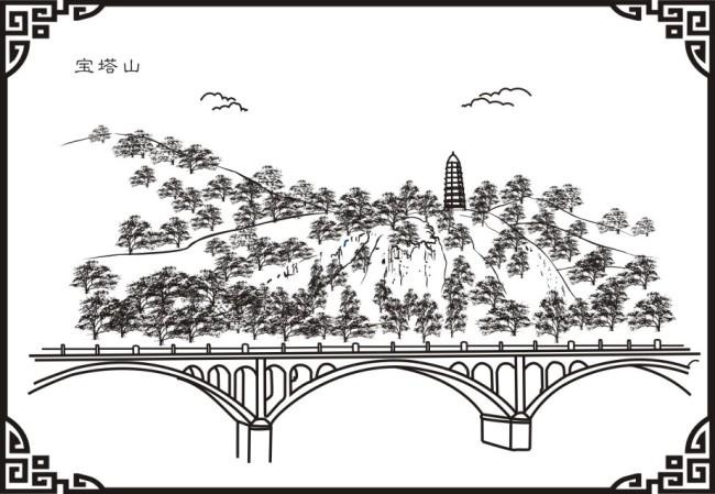 线描画铁塔步骤