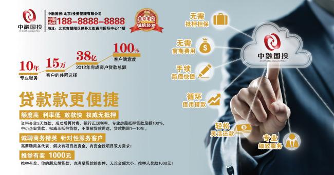 投资公司宣传广告海报