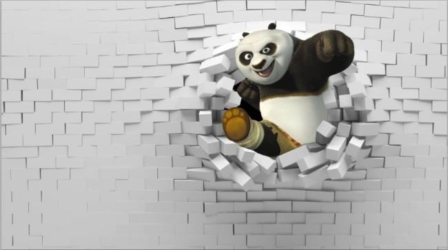 3d功夫熊猫觅觅壁画