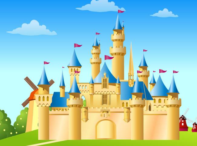 卡通迪士尼乐园城堡图片下载 卡通 迪士尼乐园矢量图 城堡矢量图 欧式