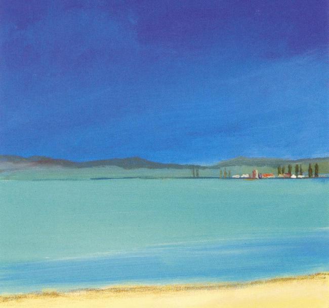 象地中海风景 抽象画 风景油画 田园风光 地中海风景 风景 山水 田园风