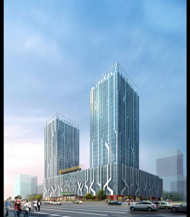 商业建筑模板下载 商业建筑图片下载大型现代商业办公双子楼3d模型