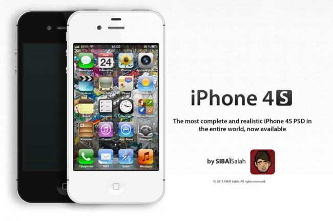 4s苹果手机图片模板下载(图片编号:11359158)
