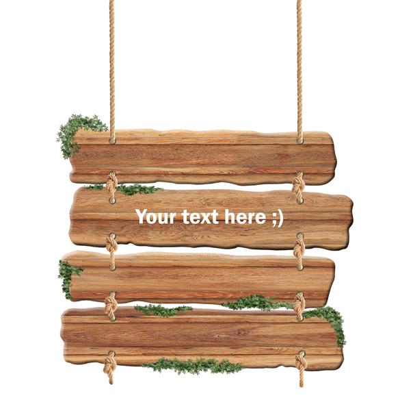 木吊牌图片下载 木吊牌 告示牌 木栅栏图片素材 木板 广告片 海报设计