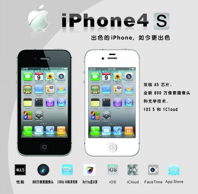苹果4s手机壁纸图片