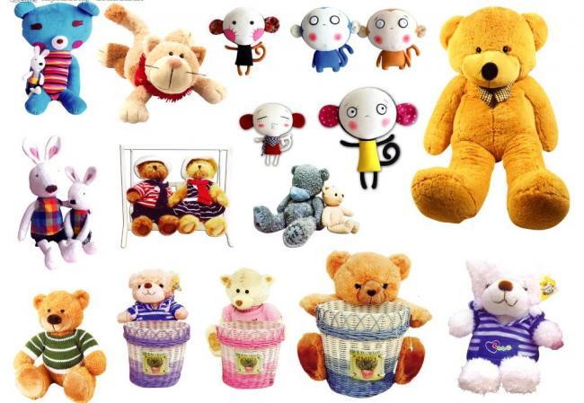 可爱毛绒玩具图片