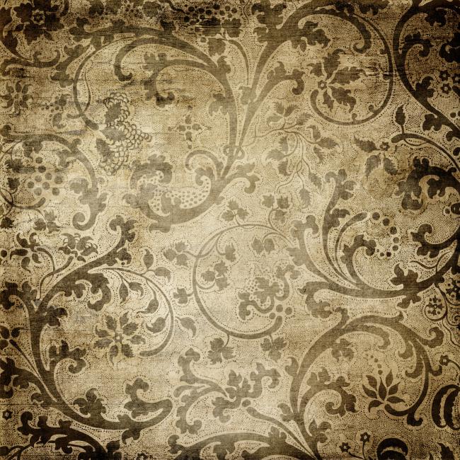 欧式复古牛皮纸花纹背景图片