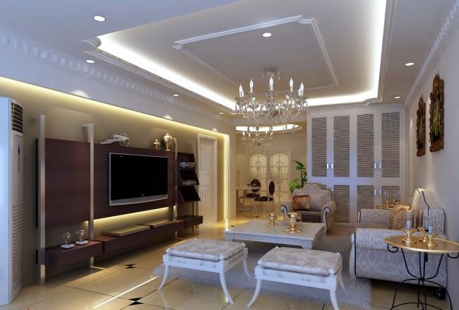 效果图 欧式/欧式客厅效果图3d模型