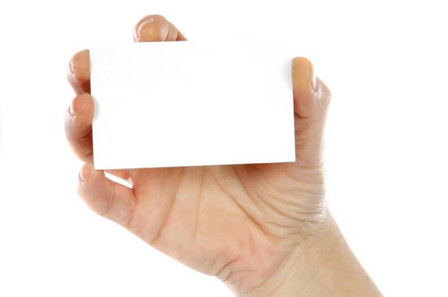 手持空白卡片vi模板