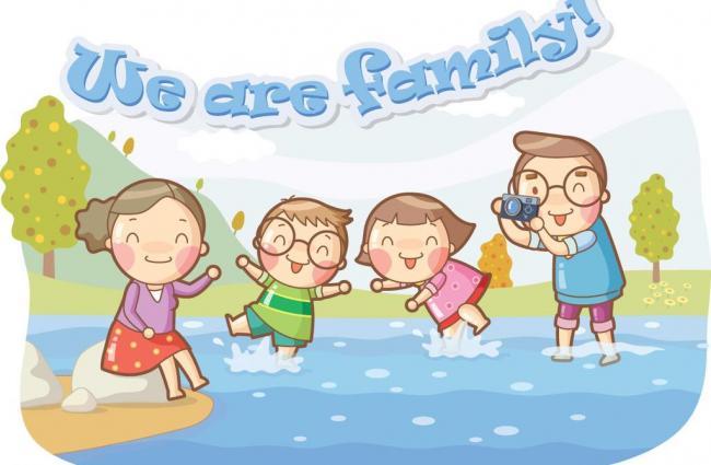 温馨家庭系列插画图片 模板下载 113图片