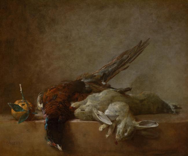 chardin, french静物植物动物食物家禽水果印象派写实主义油画装饰画