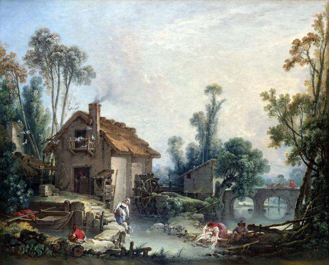 欧式高清大师风景油画装饰印象风景油画作品图片下载